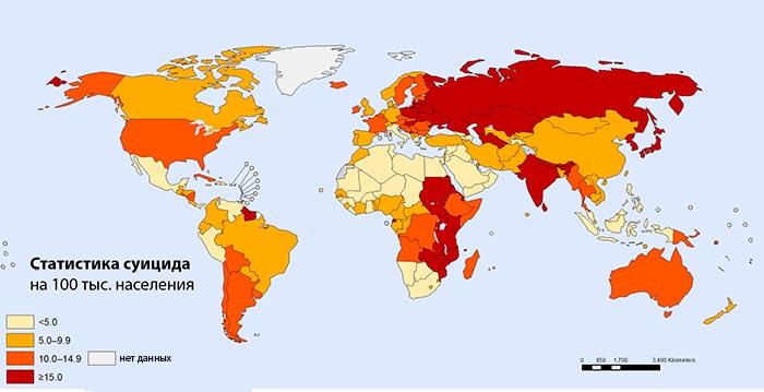 карта самоубийств 2021