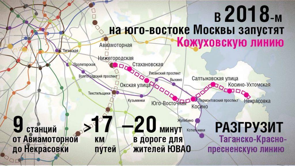 Схема нового метро Москвы